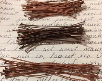 Destash Antique Copper Headpins 110 Pieces