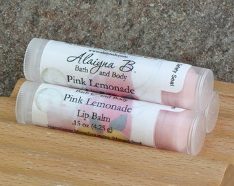 Pink Lemonade Flavored Lip Balm with Cocoa Butter