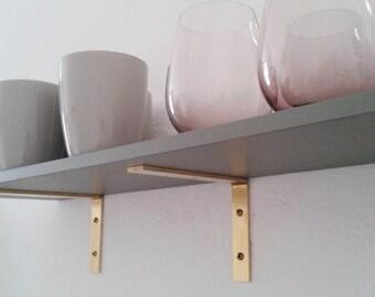 xxx set antique of shelf market product do brass brackets world mix match