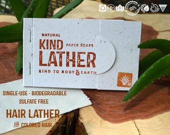 Biodegradable Single Use Sulfate Free Shampoo Color Safe Shampoo Natural Vegan USA Made Gluten Free TSA Carry On Travel