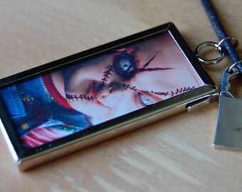 Two Sided Chucky Child's Play Necklace with Cleaver Charm