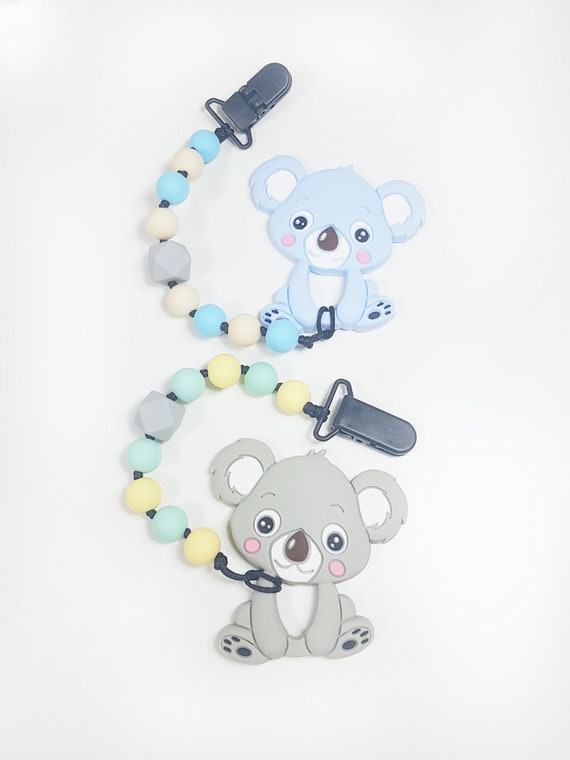Koala Chewie Clip, Teething Baby, Baby Shower, baby gift, teething clip, soother clip, silicone clip, ASD, SPD, Sensory Disorder