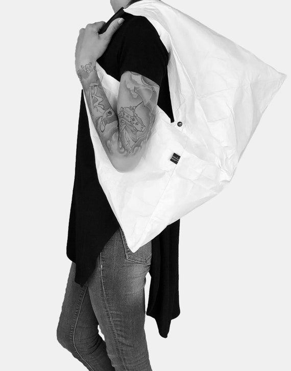 TOTE BAG TRAPEZ from Tyvek® white Shopper white bag very sturdy and durable