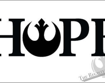 Star Wars HOPE Vinyl Sticker Decal Rebel Alliance Resistance Hope Starbird car window Rogue One