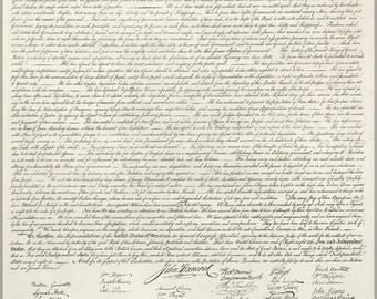 Poster, Many Sizes Available; Us Declaration Of Independece