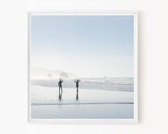Surf Decor, Surfboard Wall Art, California Art, Beach Photography, Mint, Surfer Art, Surfboard, Summer, Beach Decor, Surf Print