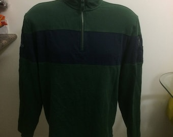 Vintage Nautica 1/4 zip up sweater size large