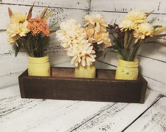 5 Jar Mason Jar Holder Centerpiece