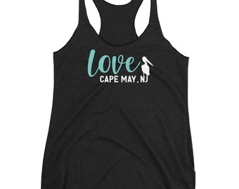 Cape may top tank, cape may new jersey, cape may gift, cape may tank, cape may for women, cape may nj tank, cape may town