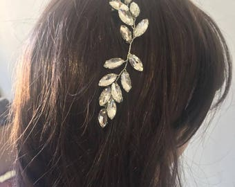 Bridal hair Comb with Rhinestones, Pearls and Crystals, Rhinestone Headpiece, Crystal Hair piece, Bridal Hair Piece, Si