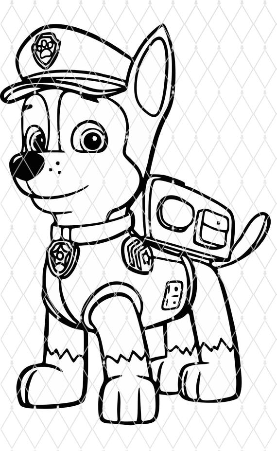 Paw Patrol Coloring Pages Marshall Cameo