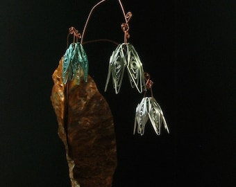 Bouquet of everlasting copper flowers for garden or home