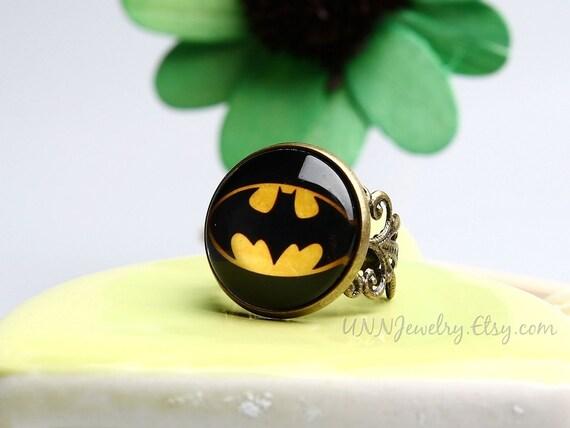 Batman Wedding Gift: Batman Rings Womens Vintage Super Hero Statement Ring