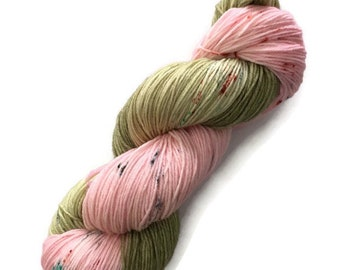 Super fine 19 micron Fingering hand - dyed wool Merino Nylon wool at bottom