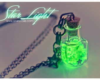 Glow in the dark vial necklace Glow Bottle Necklace glowing pendant Cute necklace, Inspirational gift for women, glow jewelry