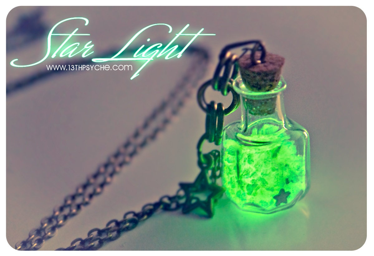 Glow in the dark vial necklace glow bottle necklace glowing zoom mozeypictures Choice Image