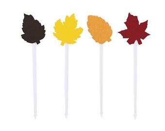 Fall Leaves Food Picks