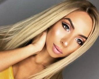 Golden Blonde Human Hair Wig