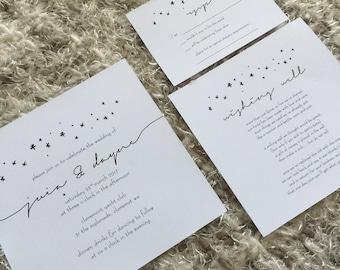 Printable Wedding Invitation Set | Wedding Invite | Printable Wedding Invite | Stars | 'Stary Nights' Design