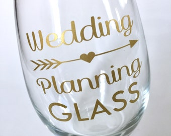 Wedding Planning GLASS - Bridesmaid Proposal - Will You Be My Bridesmaid - Engagement - Stemless Wine Glass Personalized - Easter Basket