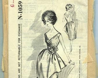 Vintage Spadea Designer 1960 60s Harvey Berin Evening Gown Pattern N-1059