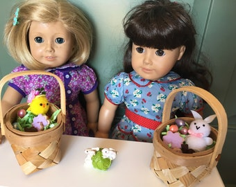 Deluxe Easter Basket, 18 in doll scale