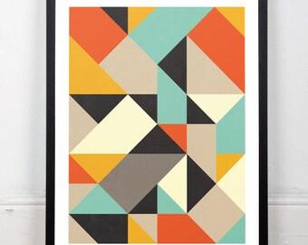 Minimalist abstract art, Abstract watercolor, Scandinavian design, Abstract print, Minimalist art print, Geometric print, Nordic design
