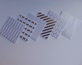 Metallic Mini Note Cards >> set of 12//Mini Note Cards//Note Card set//Mini Cards/Mini Blank Cards//Blank Cards//Metallic Cards