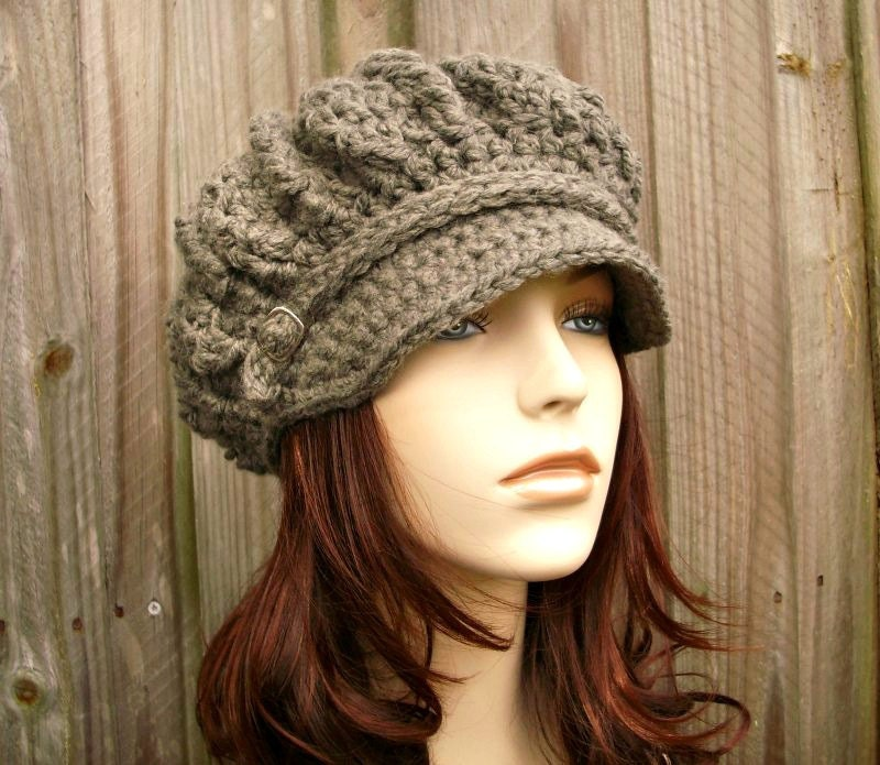 Chunky Knit Newsboy Hat Crochet Pattern
