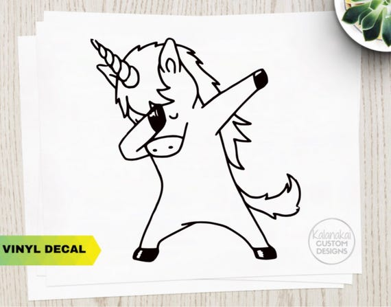 UNICORN Decal Dabbing Unicorn Unicorn Sticker Funny