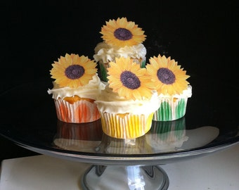 The Original EDIBLE Sunflowers - Cake & Cupcake toppers - Food Decorations