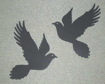 Pair of Doves Wood Wall Art Decor