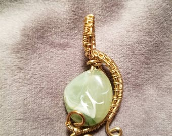 Misty Green Stone Pendant