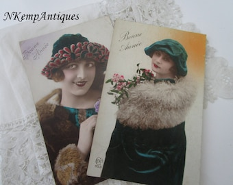 Old new years card x 2