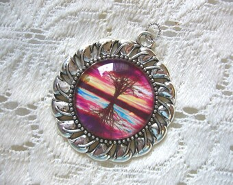 Red And Fuchsia Reflections Pendant Free Shipping in USA