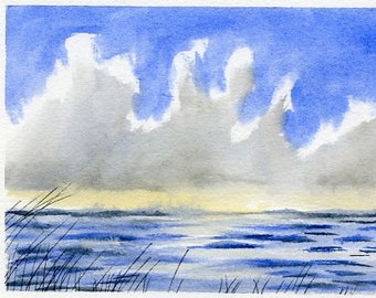 Seascape with Reeds