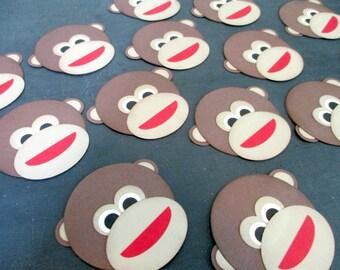 Monkeys Monkey Die Cuts Sock Monkey Faces Boy Mod Monkey Inspired Monkey Head Decorations Party Decorations Baby Shower Decoration Birthday