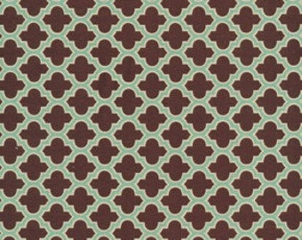 Joel Dewberry Fabric / Lodge Lattice Caramel / AVIARY 2  Cotton Quilt Fabric 1 yard