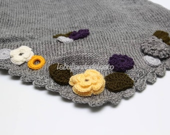 Spring flowers shawl