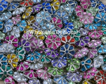 Teardrop Grab Bag of Rhinestone Buttons - 23mm Tear Drop Acrylic Buttons - Perfect Condition! Mixed Colors 23 mm