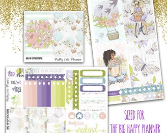 BIG Happy Planner Planner Stickers - Weekly Planner Sticker Set - Happy Planner  - Functional stickers - Springtime stickers - floral