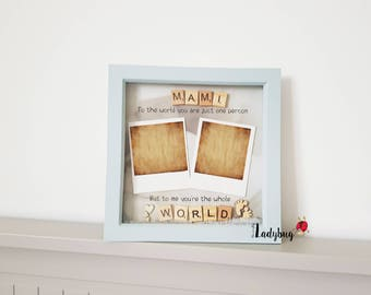 Personalised Mother's Day frame, Perfect Gift for your Wife/Mum, Mum Flower Frame