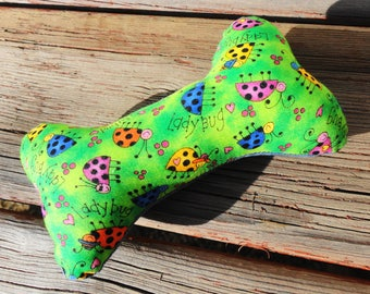 Dog Chew Toy, Dog Toy, Upcycled Dog Toy - Small - Ladybug