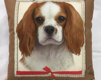 Cavalier Gifts, King Charles Cavalier Pillow, Decorative Pillow
