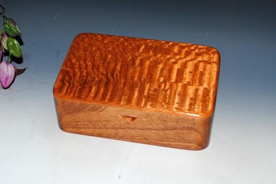 Wooden Stash Box-Wood Box, Jewelry Box, Desk Box-Lacewood on Mahogany -Handmade Box -Wooden Box, Hinged Box With Lid, Keepsake Box, Gift Box