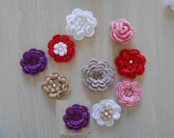 crochet flower/crocheted flowers