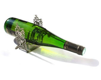 Wine Bottle Holder, Wine Bottle Stand, Wine Holder, Bottle Holder, Wine, Wine Stand, Wine Rack, Metal Wine Rack, Metal Art, Home Decor