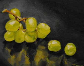 Green Reflections 073 - Still Life Oil Painting