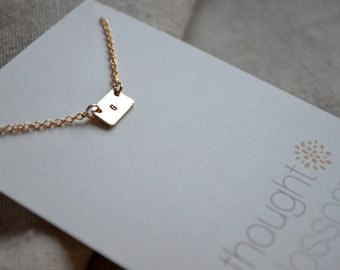 Tiny Initial Necklace - Custom - Personalize
