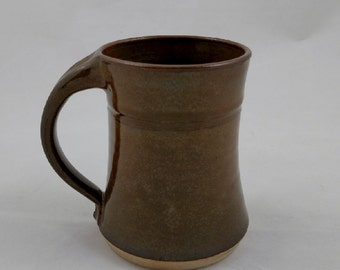 Mug Chocolate Brown Pottery Handmade by Daisy Friesen